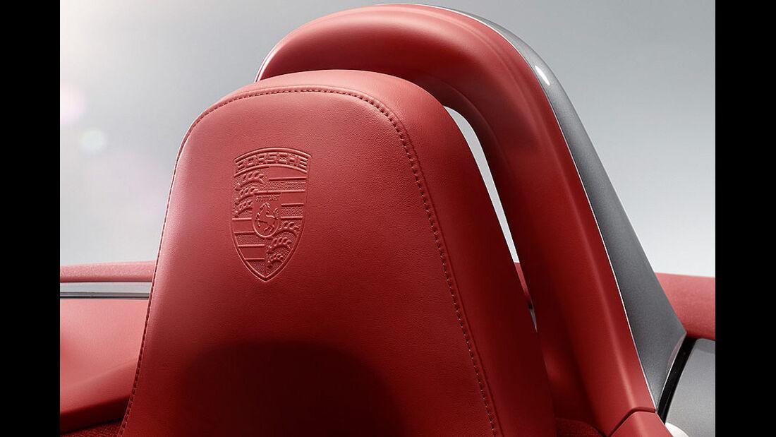 Porsche Boxster im Konfigurator, Lederausstattung, Emblem