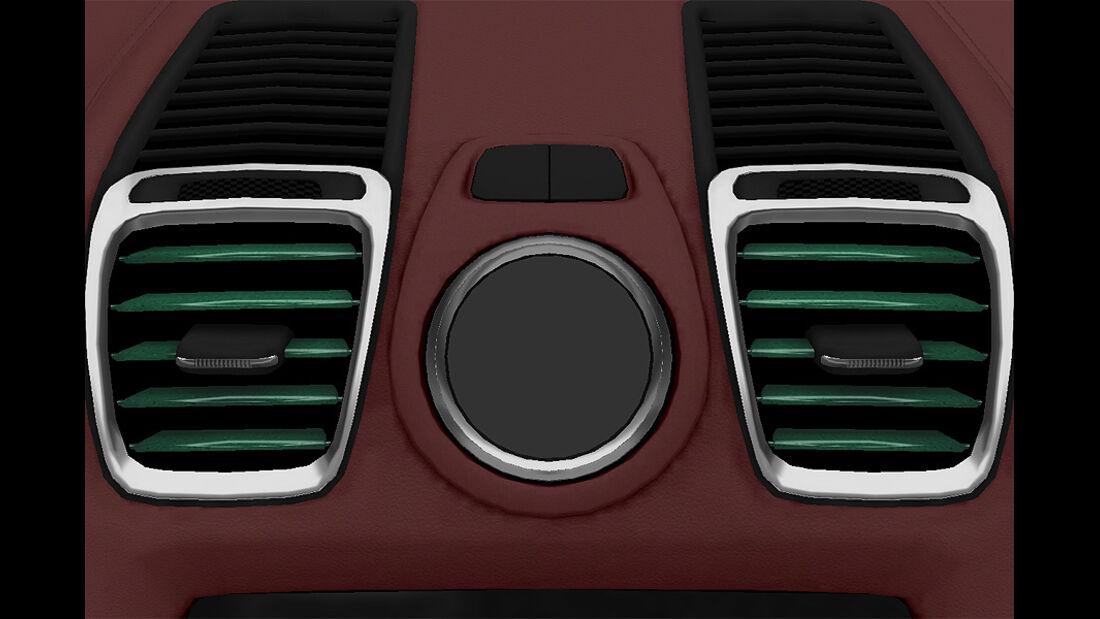 Porsche Boxster im Konfigurator, Lüftungslamellen lackiert