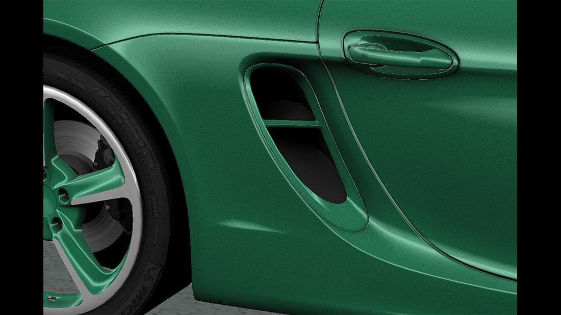 Porsche Boxster im Konfigurator, Lufteinlass lackiert