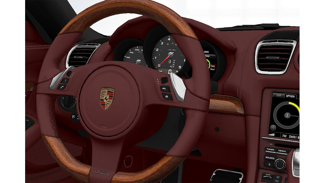 Porsche Boxster im Konfigurator, Mahagoni-Ausstattung