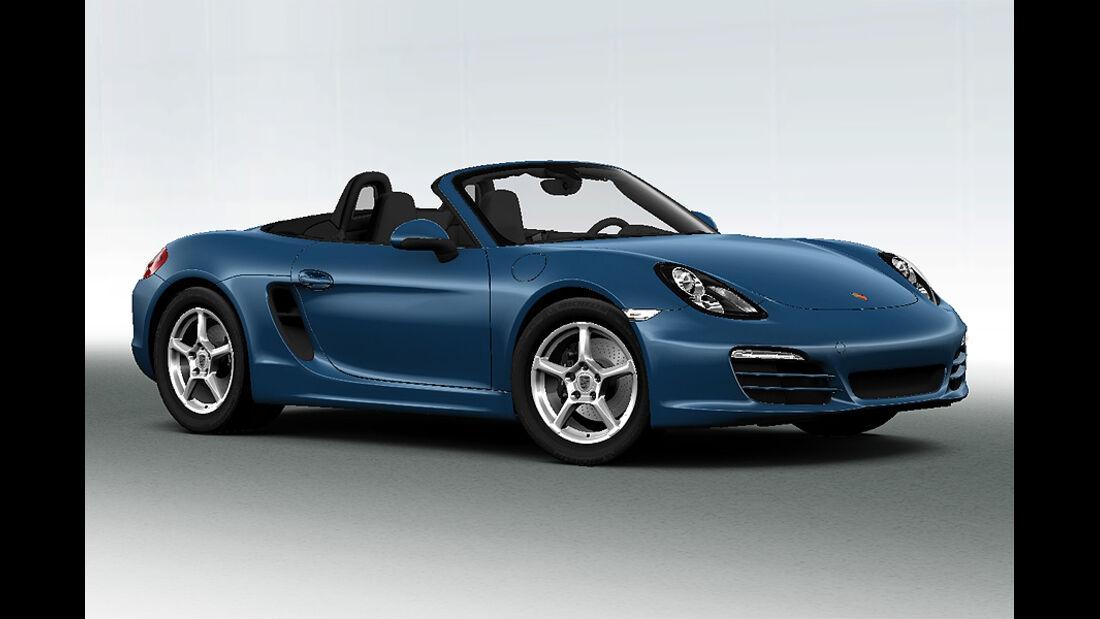 Porsche Boxster im Konfigurator, Metallic-Lackierungen