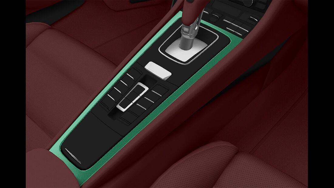 Porsche Boxster im Konfigurator, Mittelkonsole lackiert