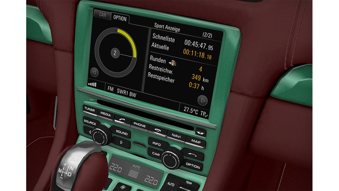 Porsche Boxster im Konfigurator, PCM lackiert