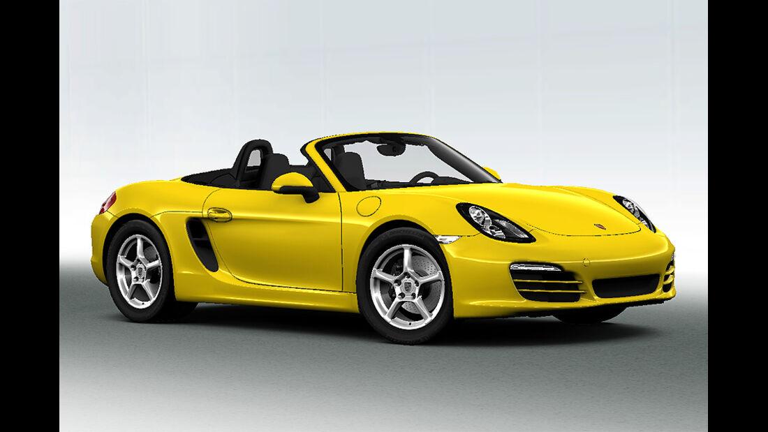 Porsche Boxster im Konfigurator, Serienfarbe