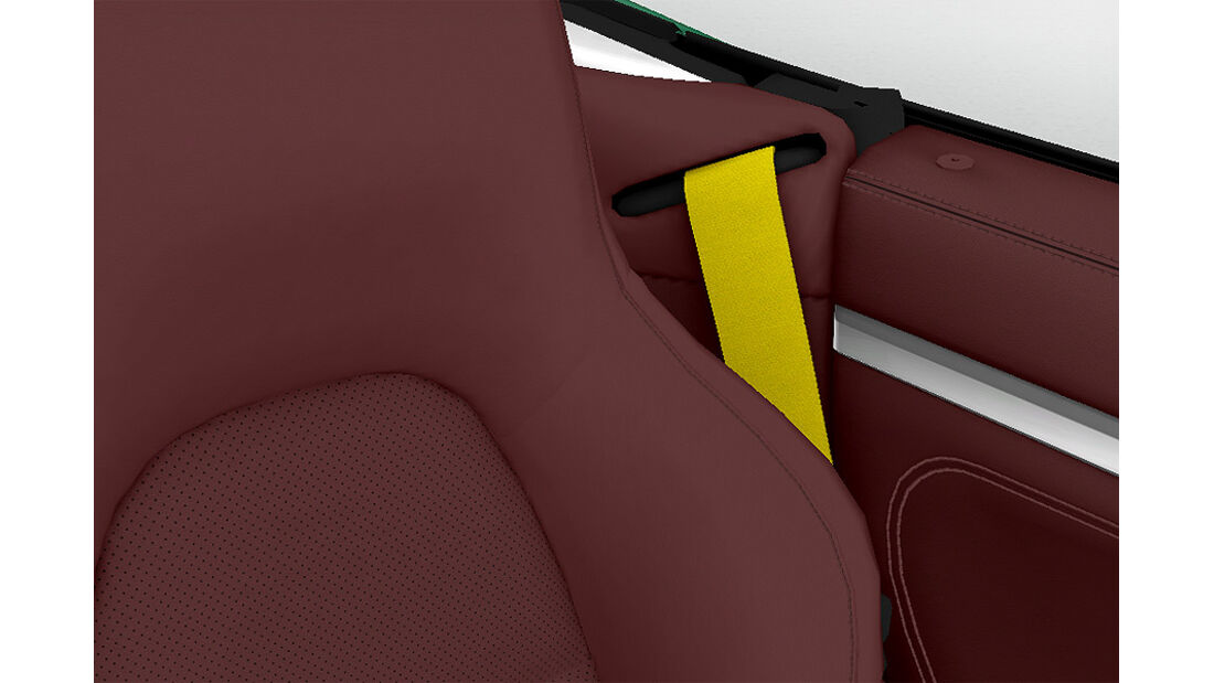 Porsche Boxster im Konfigurator, Sicherheitsgurt