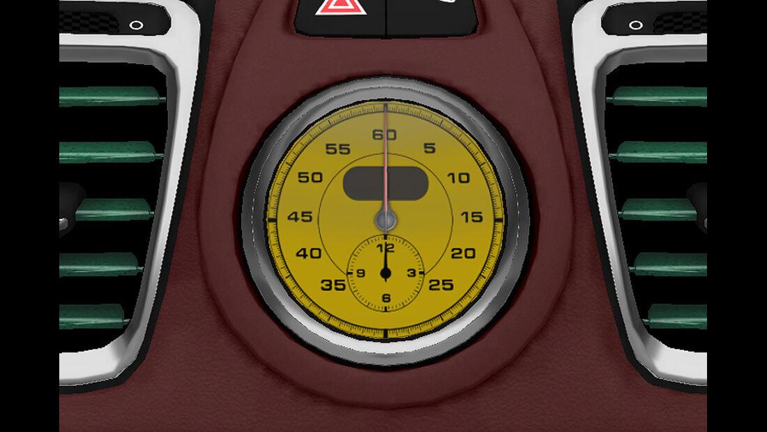 Porsche Boxster im Konfigurator, Stoppuhr