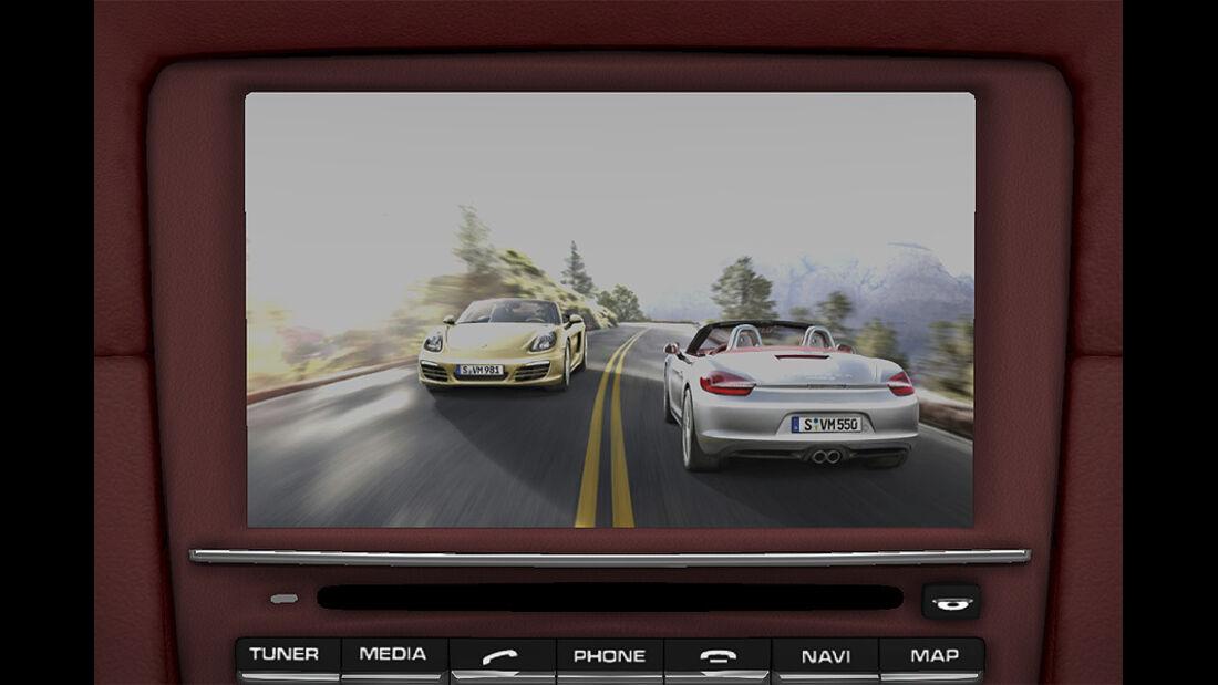 Porsche Boxster im Konfigurator, TV-Tuner
