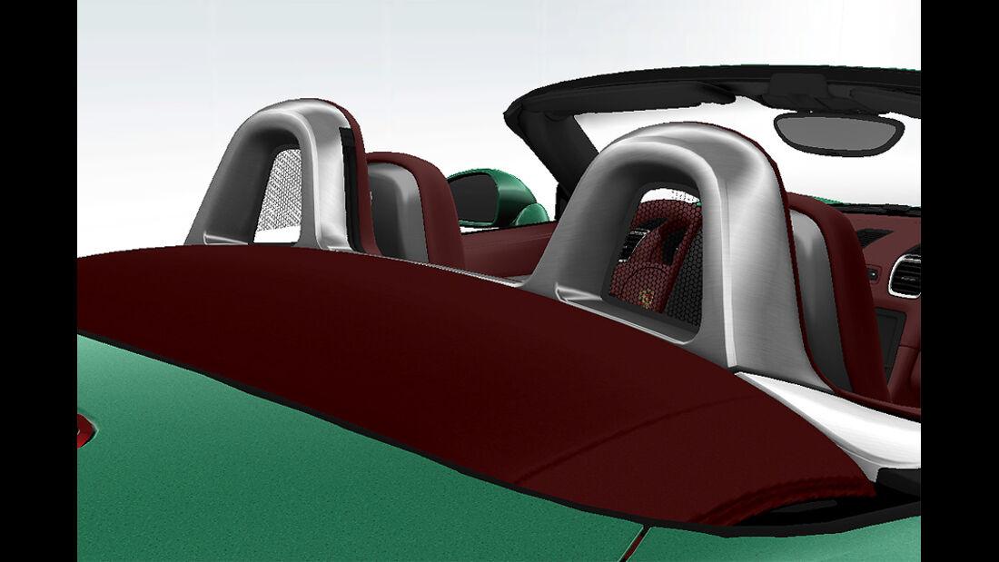 Porsche Boxster im Konfigurator, Überrollbügel Aluminium