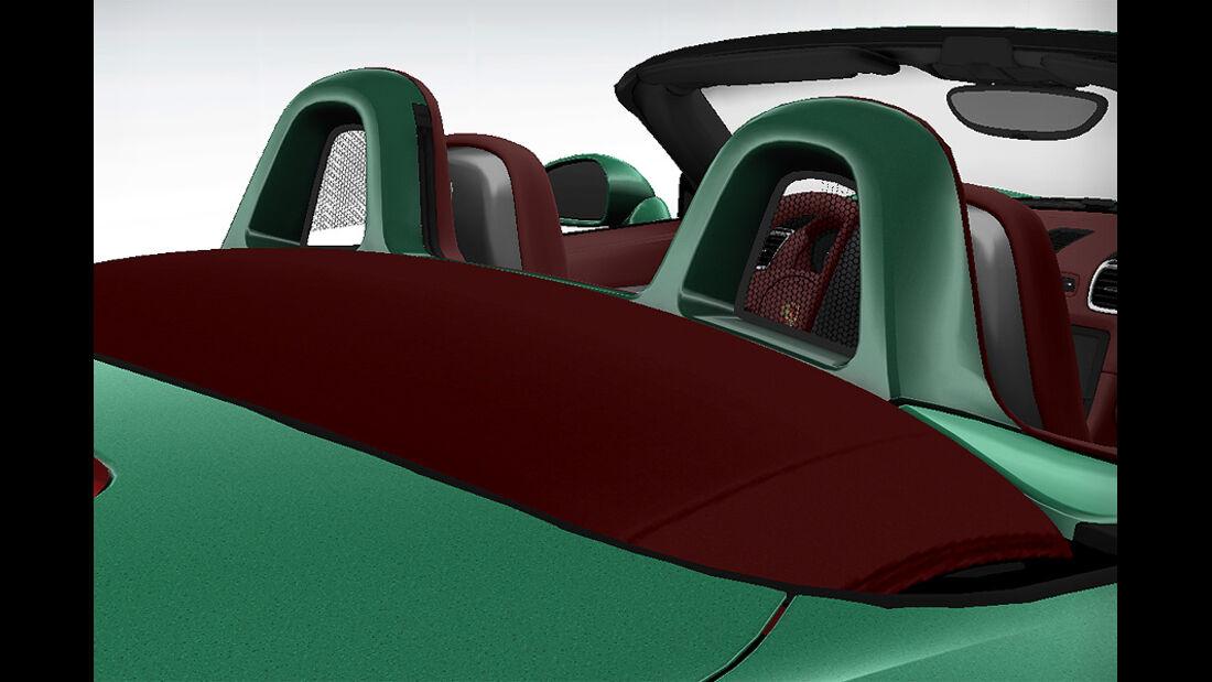 Porsche Boxster im Konfigurator, Überrollbügel lackiert