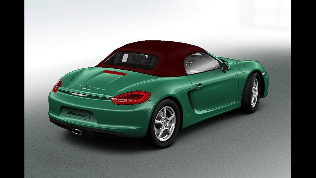 Porsche Boxster im Konfigurator, Verdeckfarben