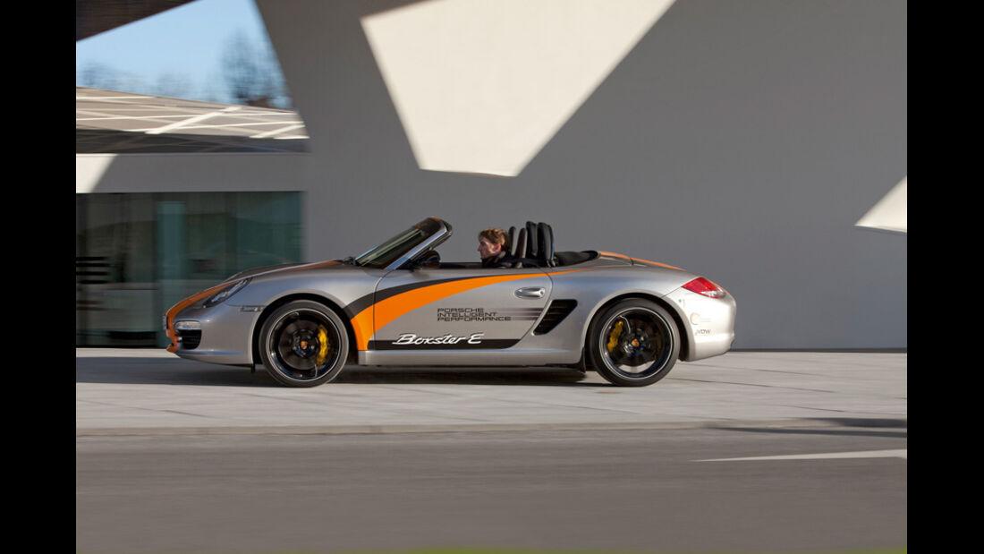 Porsche Boxter E, Seitenansicht