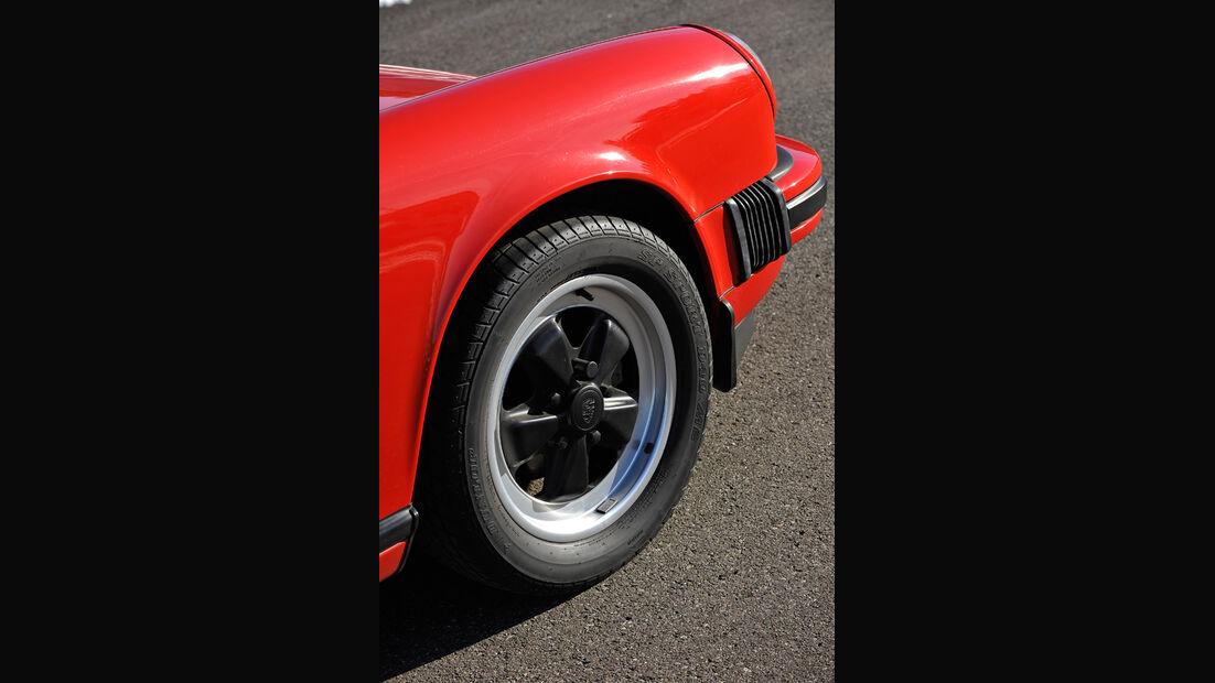 Porsche Carrera 3.2, Reifen, Felge