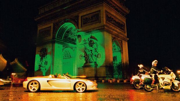 Porsche Carrera GT (2000) Walter Röhrl Arc de Triomphe Paris