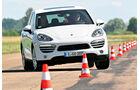 Porsche Cayenne Diesel, Frontansicht, Slalom