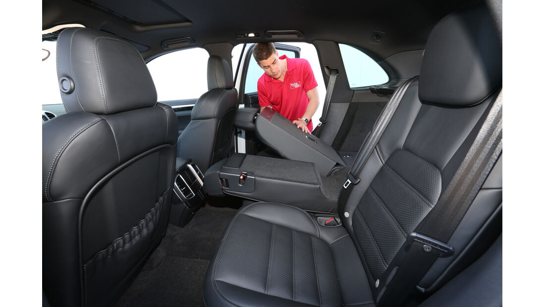 Porsche Cayenne Diesel, Rücksitz, Umklappen