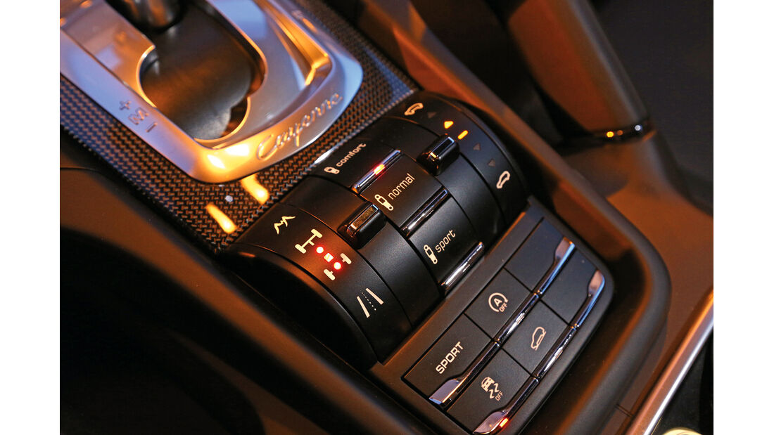 Porsche Cayenne GTS, Mittelkonsole, Bedienelemente