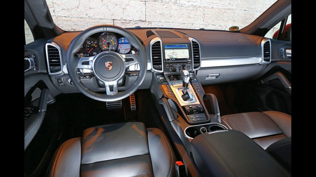 Porsche Cayenne S Diesel, Cockpit, Lenkrad
