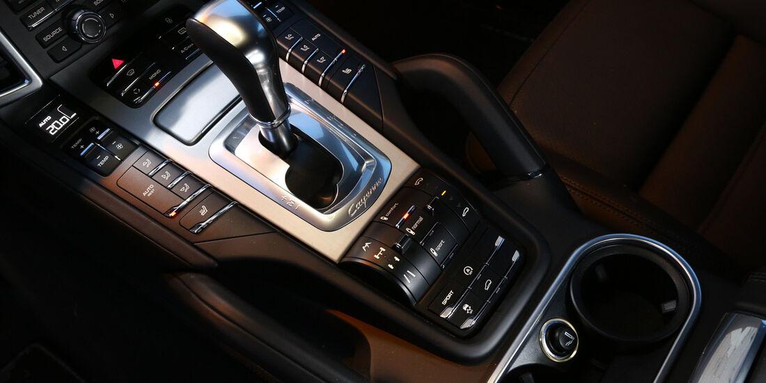 Porsche Cayenne S Diesel, Schalthebel, Schaltknauf