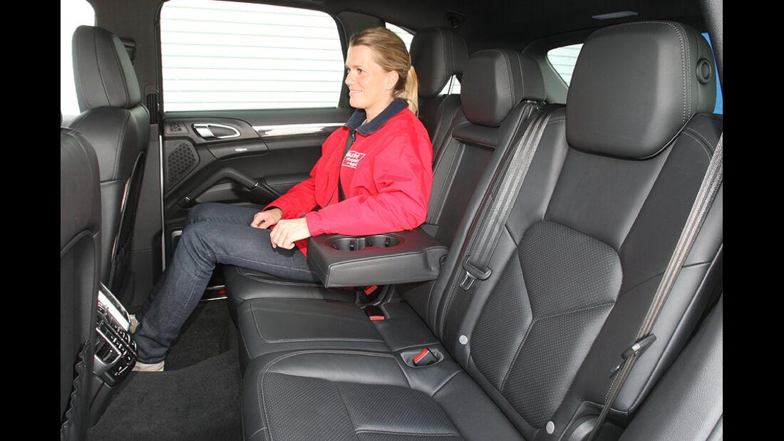 Porsche Cayenne S, Rückbank