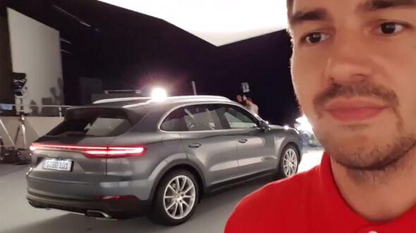 Porsche Cayenne Sitzprobe