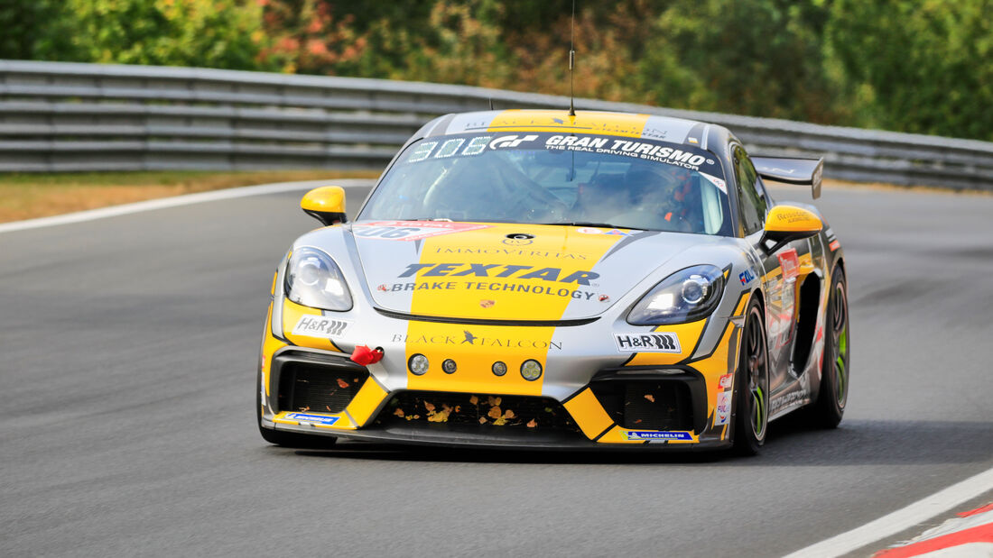 Porsche Cayman 982 GT4 CS - Black Falcon Team Textar - Startnummer #306 - Klasse: Cup 3 - 24h-Rennen - Nürburgring - Nordschleife - 24. bis 27. September 2020