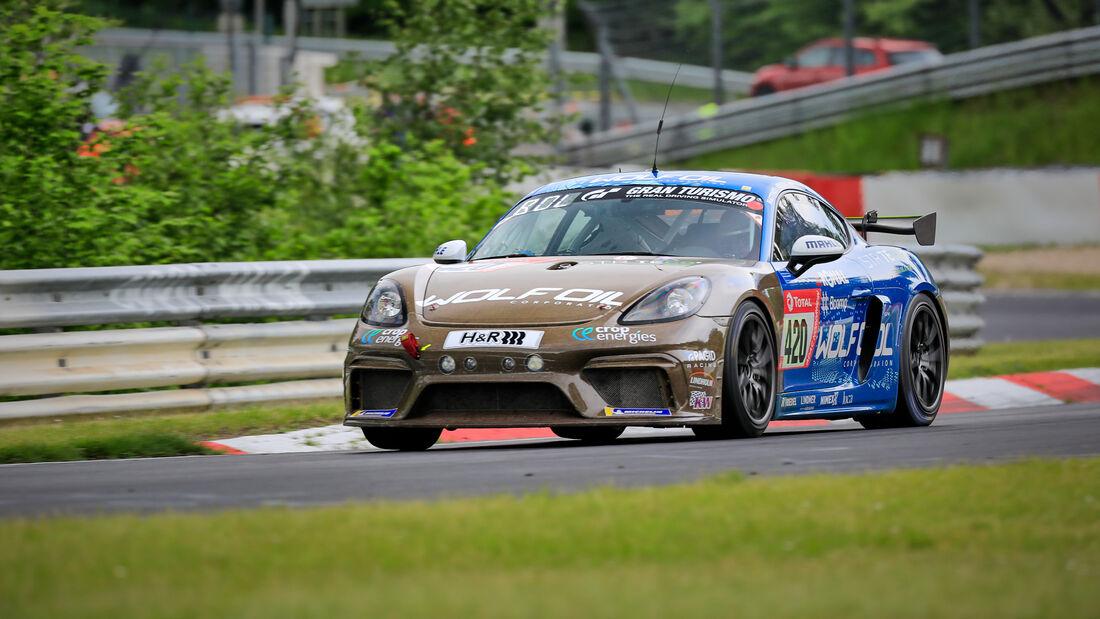 Porsche Cayman 982 GT4 CS - Four Motors Bioconcept-Car - Startnummer #420 - Klasse: AT - 24h-Rennen - Nürburgring - Nordschleife - 03. - 06. Juni 2021