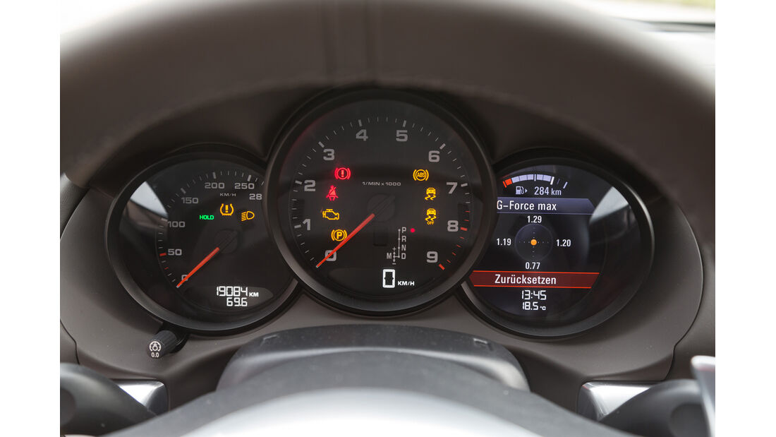 Porsche Cayman, Anzeigeinstrumente