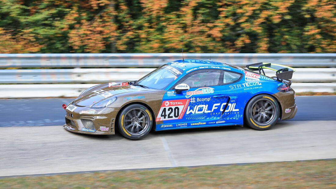 Porsche Cayman GT4 CS - Four Motors Bioconcept-Car - Startnummer #420 - Klasse: AT - 24h-Rennen - Nürburgring - Nordschleife - 24. bis 27. September 2020