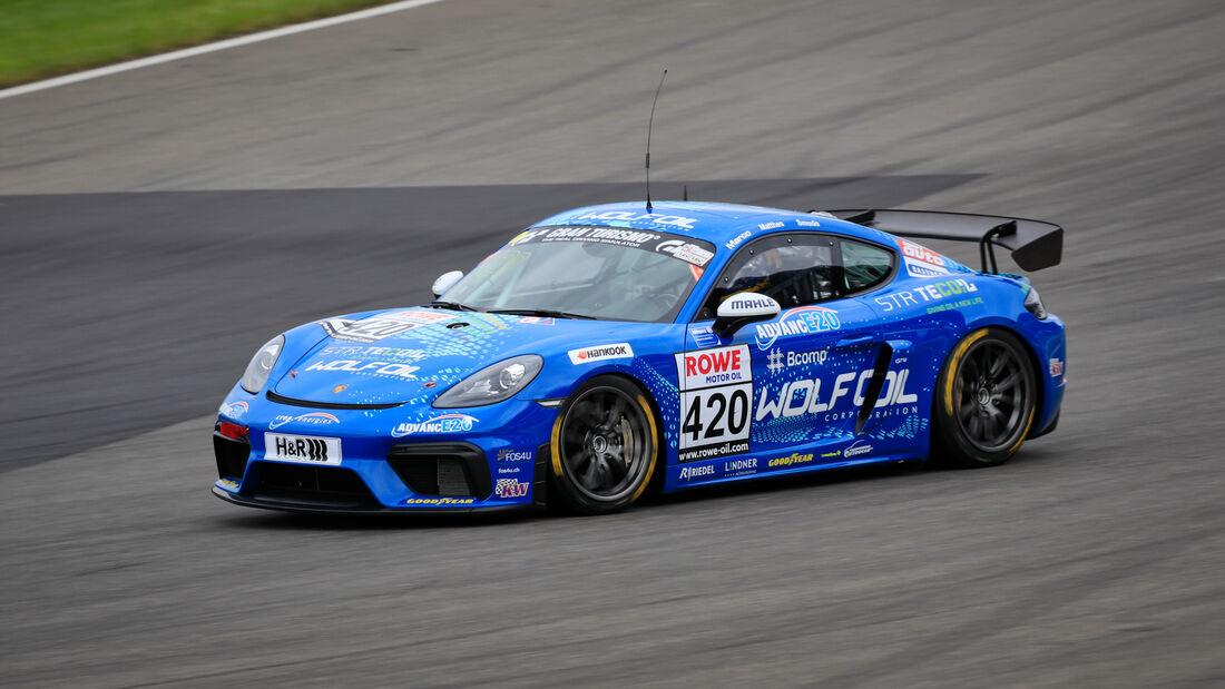 Porsche Cayman GT4 CS - Startnummer #420 - Four Motors Bioconcept-Car - AT(-G) - NLS 2020 - Langstreckenmeisterschaft - Nürburgring - Nordschleife