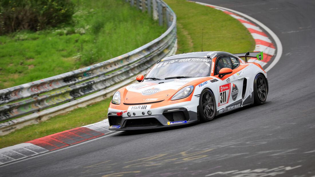 Porsche Cayman GT4 - Fk Performance GbR - Startnummer #311 - Klasse: Cup 3 - 24h-Rennen - Nürburgring - Nordschleife - 03. - 06. Juni 2021