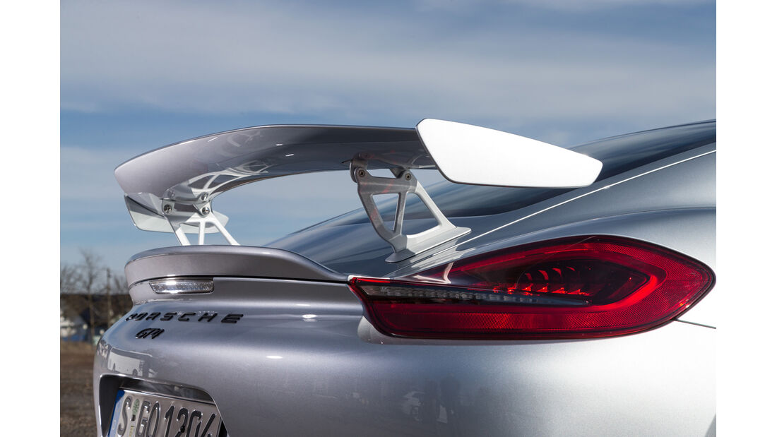 Porsche Cayman GT4, Heckspoiler