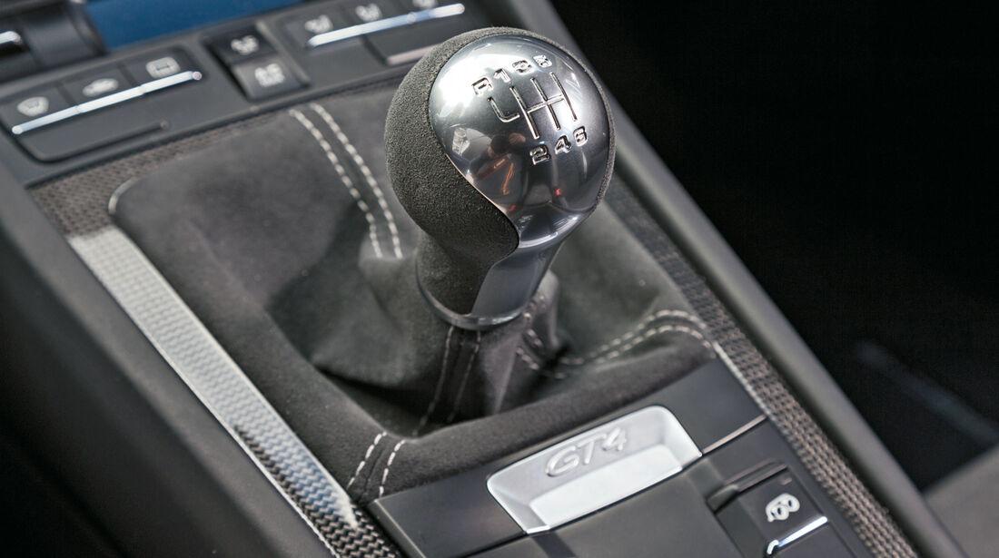 Porsche Cayman GT4, Schalthebel