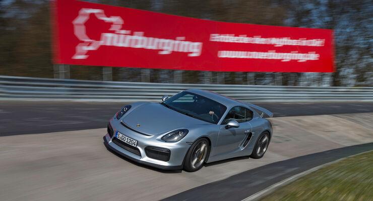 Porsche Cayman GT4, Steilkurve