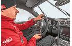 Porsche Cayman GTS, Cockpit, Fahrer