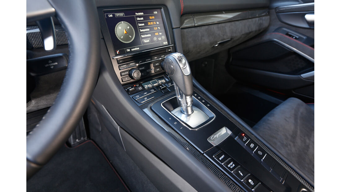 Porsche Cayman GTS, Mittelkonsole