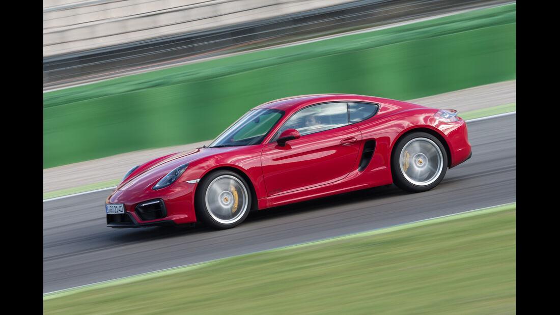 Porsche Cayman GTS, Seitenansicht