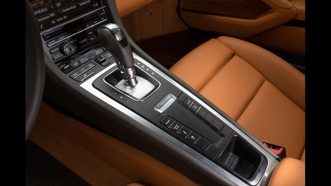 Porsche Cayman, Mittelkonsole, Schalthebel