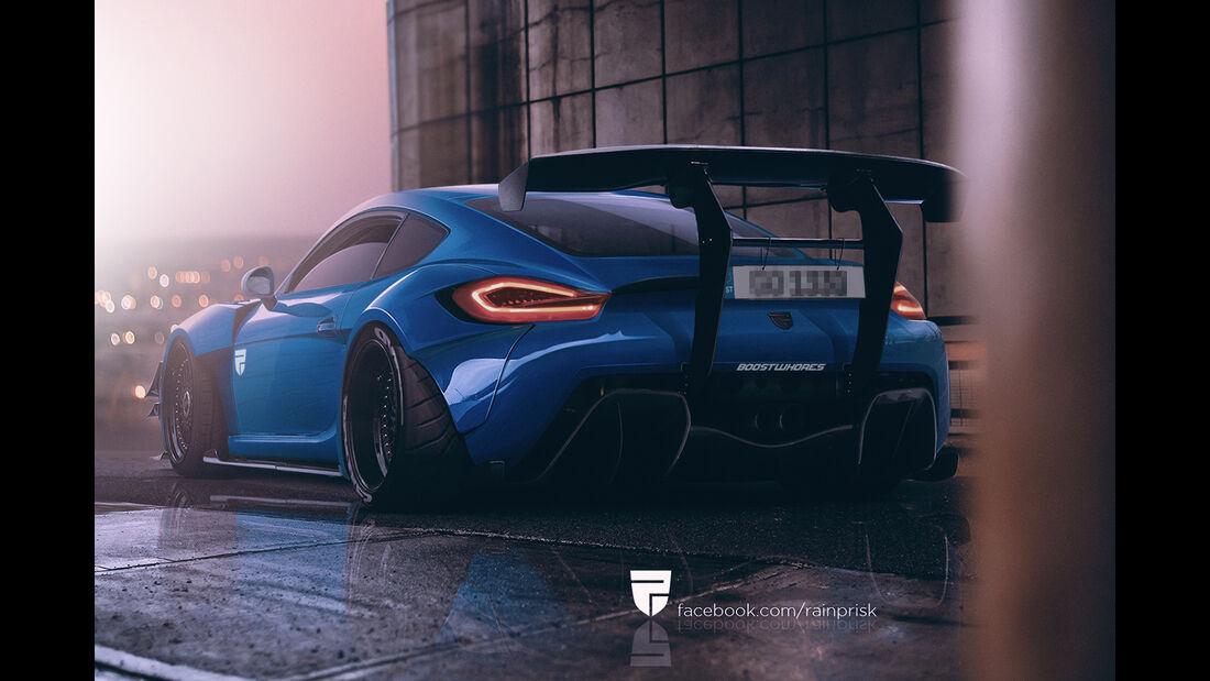 Porsche Cayman - Photoshop - Rain Prisk 2015