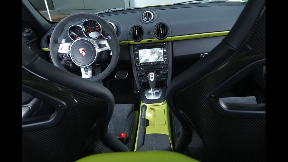 Porsche Cayman R, Cockpit, Lenkrad