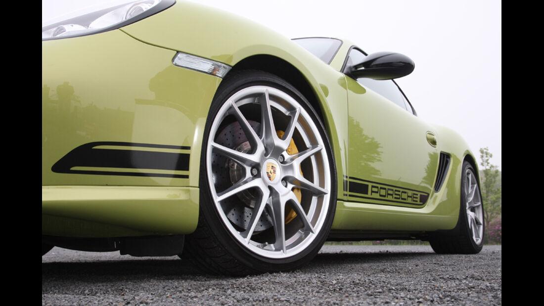 Porsche Cayman R, Detail, Alufelgen, vorne