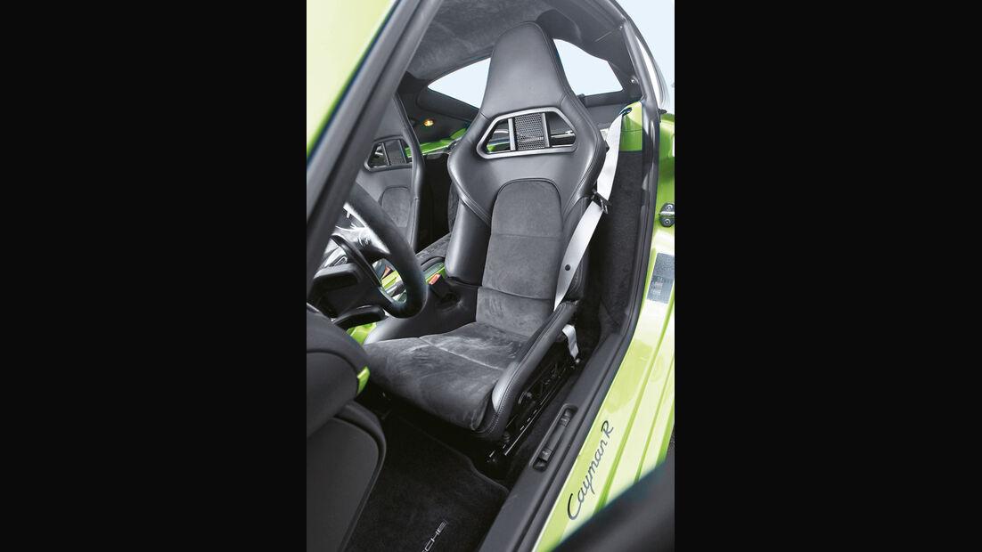 Porsche Cayman R, Fahrersitz