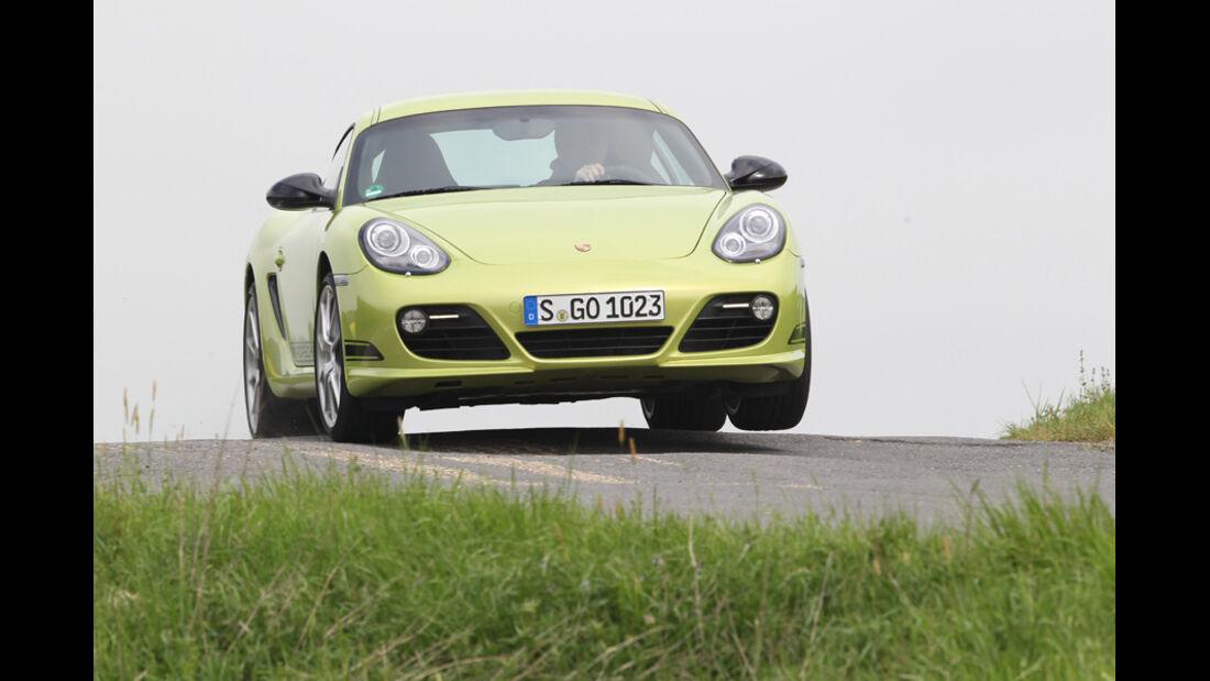 Porsche Cayman R, Frontansicht, Fahrt, Gelände
