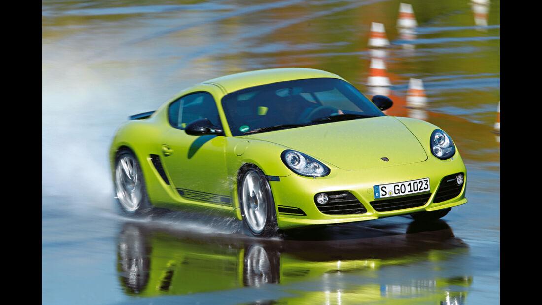 Porsche Cayman R, Frontansicht, Wasserstraße