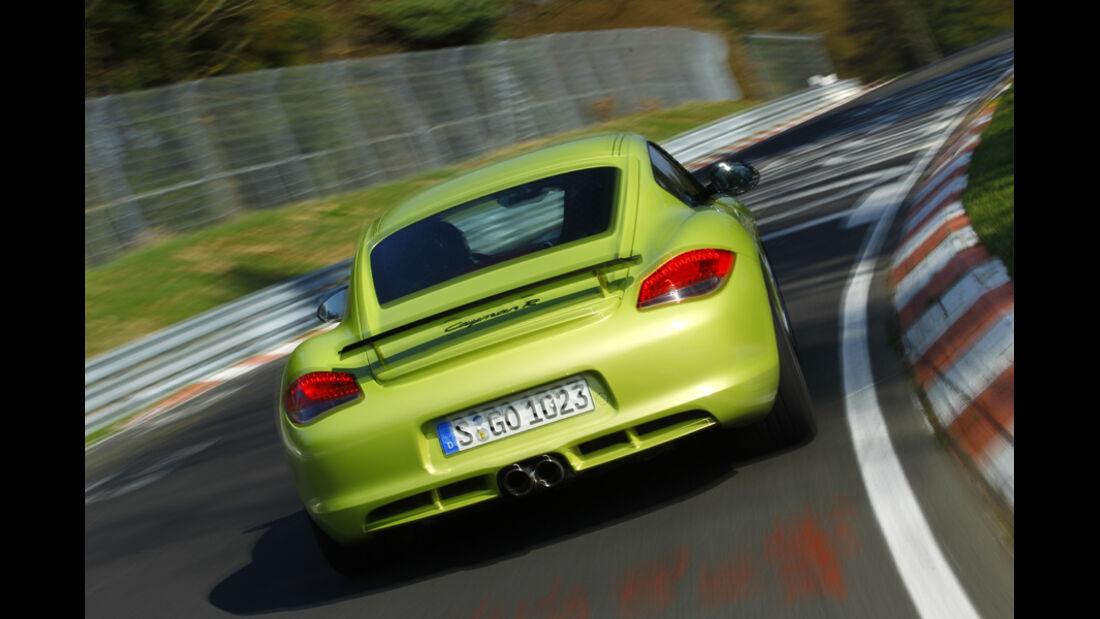 Porsche Cayman R, Heck, Rückansicht