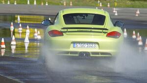 Porsche Cayman R, Heck, Wasserstraße