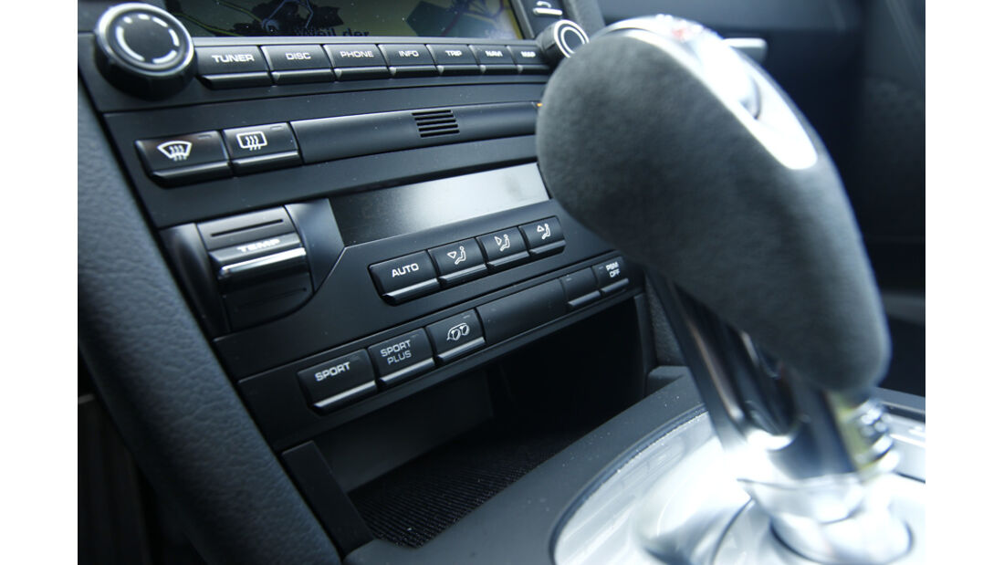 Porsche Cayman R, Innenraum, Detail, Cockpit