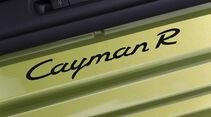Porsche Cayman R, Schriftzug