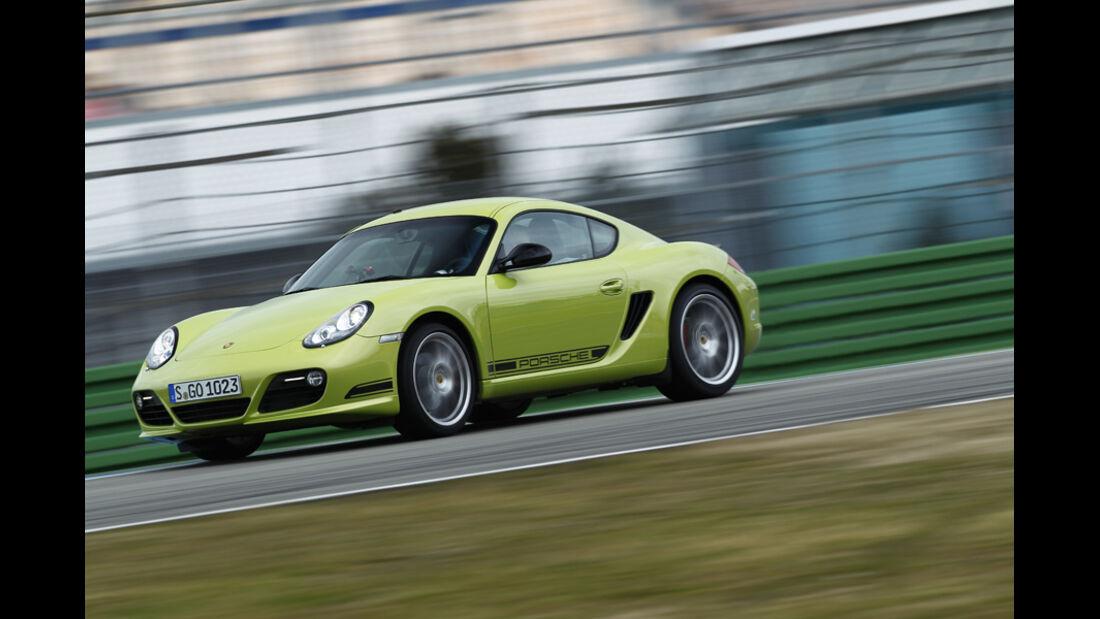 Porsche Cayman R, Seitenansicht