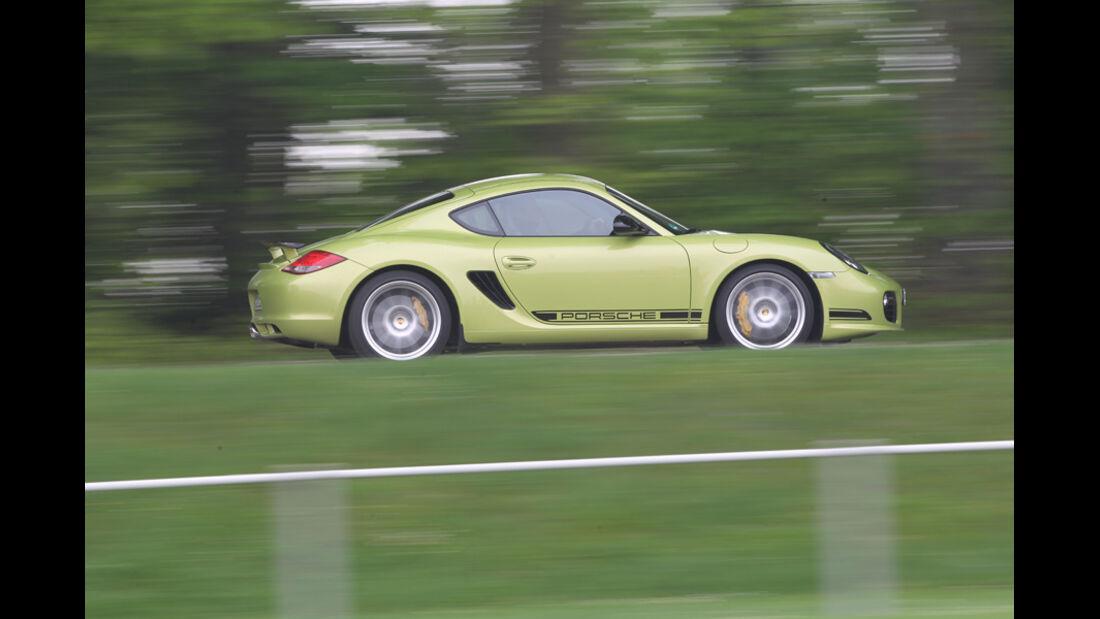 Porsche Cayman R, Seitenansicht, Fahrt, Gelände