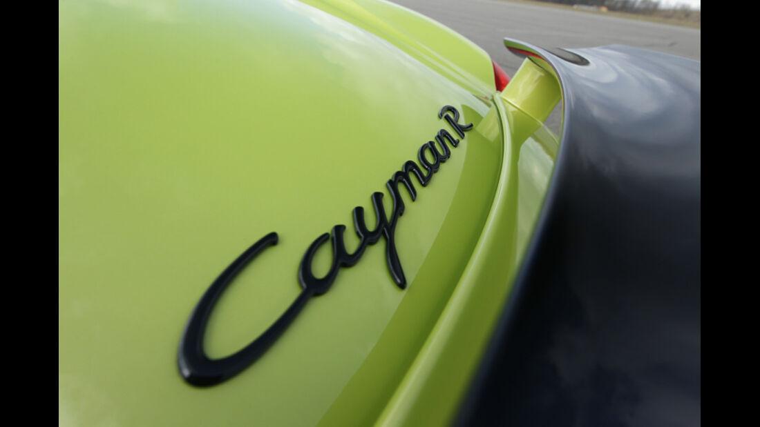 Porsche Cayman R, Typenbezeichnung, Schriftzug